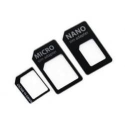 Kit Adaptateur 3 en 1 sim/micro sim/nano sim