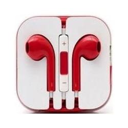 Ecouteur Earpods Compatible Apple Rouge